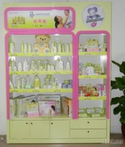 Wooden Display Stand For Baby Care Products