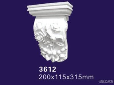 Auuan PU Material Carved Lowes Flower Corbel Decorate Product 3612
