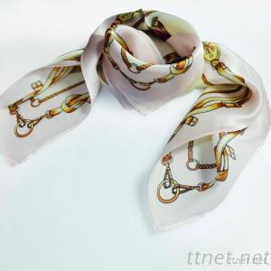 Silk Scarf, Small Square Silk Scarf 55x55cm