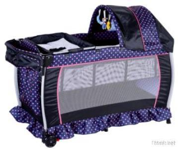 Baby Playpen With Canopy, Folding Baby Cradle, Baby Travel Bed