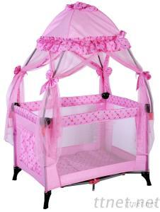 Baby Colorful Cot Bed With Luxury Mosquito Net, Folding Baby Bed, Baby Playpen