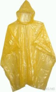 Disposable PE Water-Proof Adult Raincoat
