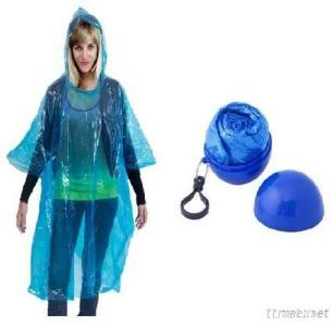 Poncho In A Ball With Keychain