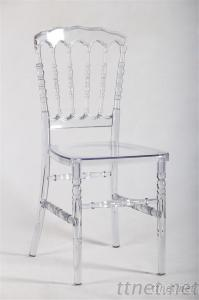 Clear Resin Napoleon Chair For Wedding Event