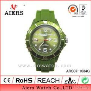 For Unisex Iced Silicone Watch Promotion Gift