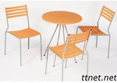 Plastic Restaurant Table And Chair Set