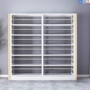 Titanium Alloy Laeral Plate Metal Double Side Library Book Display Shelves