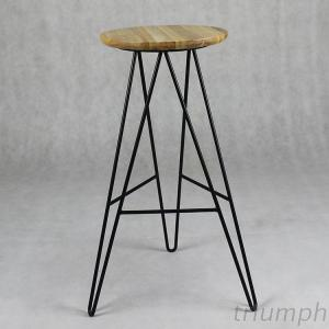 Triumph Metal Stool With Wooden Top, Round Solid Wood Restaurant Stool, Used Bar Stool Nightclub Furniture For Sale