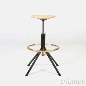 Triumph Antique Bar Stools Round Wooden Seat, French Provincial Bar Stool Gold Metal Frame