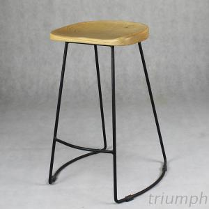 Triumph Industrial Bistro Counter Stool Bottom Shape Retro Bar Stools Made In China
