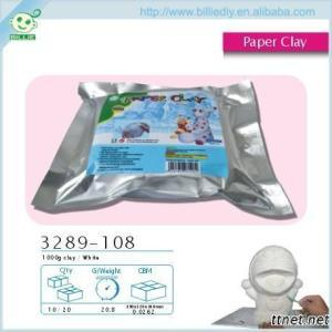 Self-hardening White Paper Clay