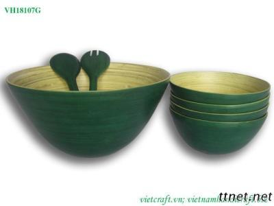 Set of Spun Bamboo Bowl