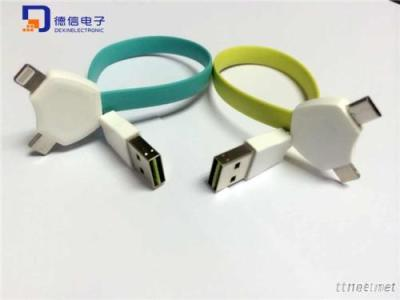 Mobile Phone USB Cable for iPhone, iPad & Galaxy S6 (LC-007)