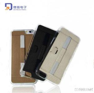 Luxury Slim Leather Mobile Case for iPhone 6 & 6 Plus with Card Bag