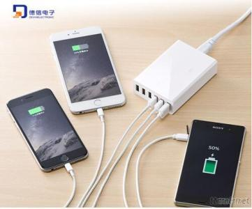 10A 50W Six Ports USB Charger