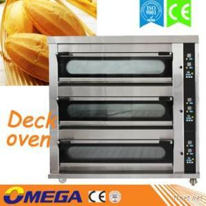 OMEGA 3 Deck 9 Trays Gas Deck Oven, Stainless Steel Digital Control Single Electric Deck Oven
