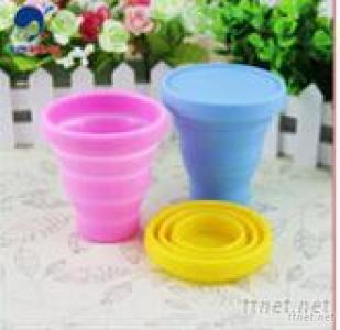 Siilicone Collapsible Drinking Cup For Traveling Or Camping