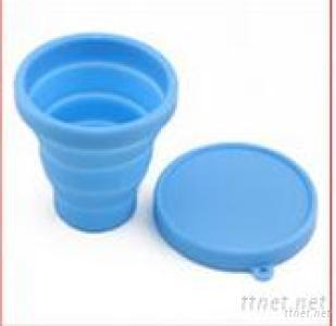Eco-Friendly Silicone Folding Cup with Lid