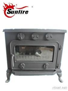 Five-Knobs Cast Iron wood Stove, Fireplace