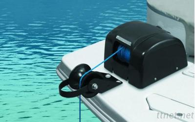 Marine Boat Yacht Pontoon Sail Boat Heavy Duty 12V Electric AutoDepoly Anchor Winch Freshwater Black 45LBS