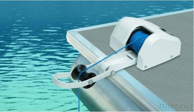 Marine Boat Yacht Pontoon Sail Boat Heavy Duty 12V Electric Anchor Winch Saltwater White 35LBS