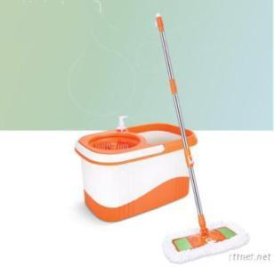 Water Absorbing And Foldable Spin Flat Mop
