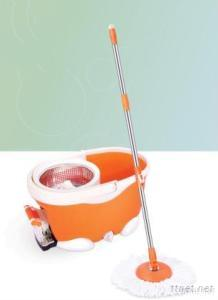 Four Driven Spin Cotton Mop With Stainless Steel Pedal