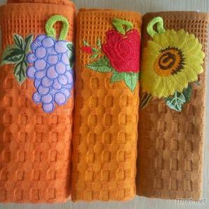 100% Cotton Tea Towel With Embroidery