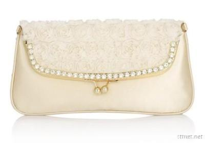 White Rose Evening Bag
