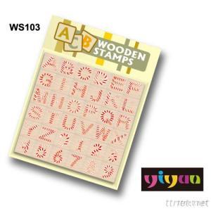 WS103 Wooden Stamps