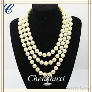 Fashion Costume Jewelry, Women Accessories Pearl Necklace