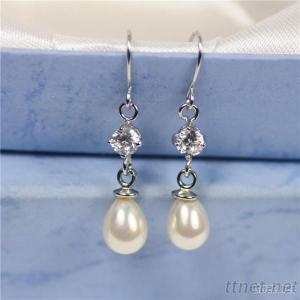 Latest Design Fashion Jewelry, Pearl Earring Ladies Accessory