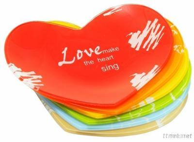 Liang Thing Glass Motto Love Dessert Plate