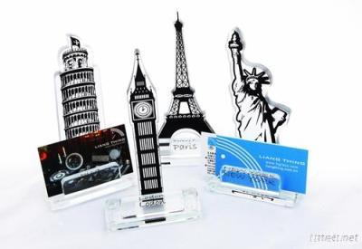Liang Thing Glass Iconic Travel Spots Award/Trophy/Memo Holder