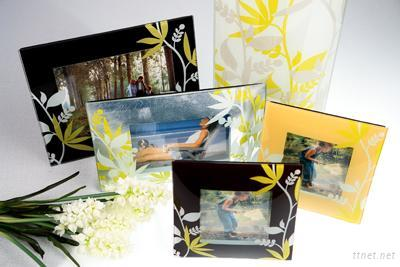 Liang Thing Glass Floral Photo Frame