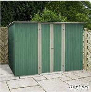 8 x 6 Teaky Easy Build Pent  Metal Garden Shed