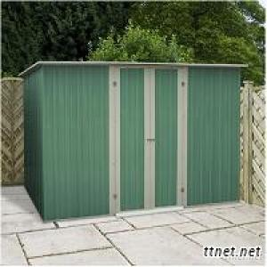 10 x 6 Teaky Easy Build Pent Metal Garden Shed