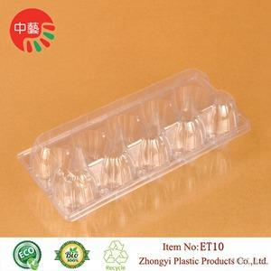 Clear Disposable Plastic Clamshell Egg Tray