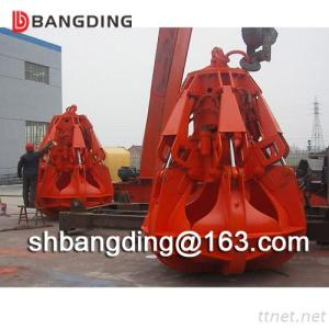Hydraulic Electric Orange Peel Grab For Handling Rock Stone