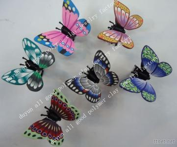 Polymer Clay Butterfly Hair Clip Claw