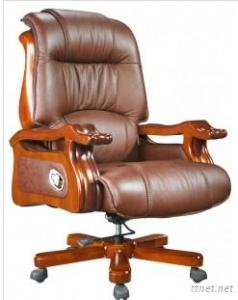 Solid Wood Structure Executive Chair