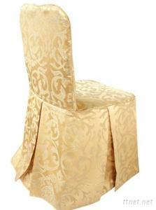 Polyester Damask Flower Pattern Jacquard Chair Covers For Weddings