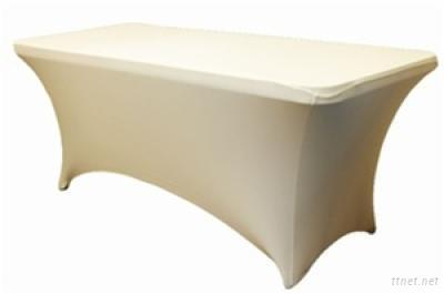 Ivory Spandex Cocktail Table Cloth, Table Cover