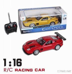 SCALE 1/16 Remote Control Car, 4 Channel R/C Car Model With Light