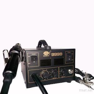 2 in 1 Lead-Free 220V/110V Digital 999D Soldering Stations With Soldering Iron + Hot Air Gun