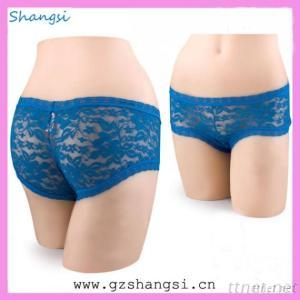 Elegance Blue Color Lace Women Panty