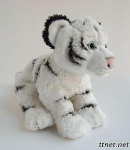 Plush Tiger Animal Toy, Stuffed Polyester Fibre