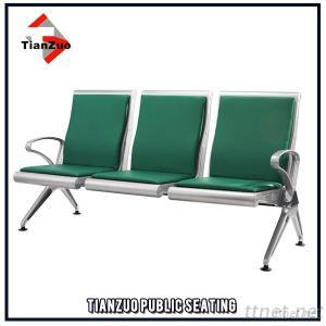 PU Upholstered 3-Seater Waiting Chair