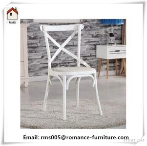 Corss Back Metal Dining Chair