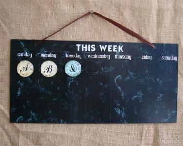 Metal Message Board With Crystal Magnet